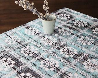 "Table cloth - Rectangle Tablecloth - Mint green tablecloth - Rustic wood tablecloth - Modern design - 56""x86"" (143x220 cm)"