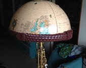 RESERVED For JM world globe lamp shade