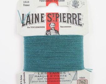 Laine St. Pierre French Wool Embroidery Floss for Hand Embroidery, Darning | Wool Embroidery Thread in PETROL (#762-A1)