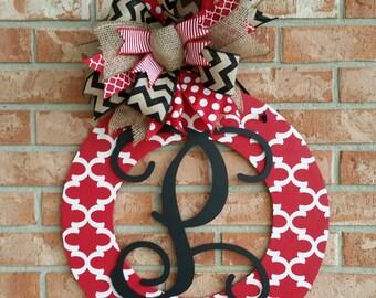Front Door Decor Valentine's Day Wreath Personalized Door Wreath Wood Wreath Home Decor Wedding Gift Wall Decor Front Door Hanger