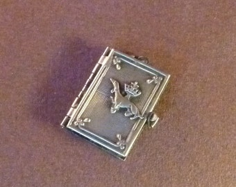 Antique french Book  Locket Souvenir castles of Loire Ermine  Stoat Collectible old Pendant Charm 6/Mi