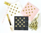 Polka Dot Cocktail Napkins , Party Napkins, Cocktail Napkins, Bridal Shower Napkins - set of 25