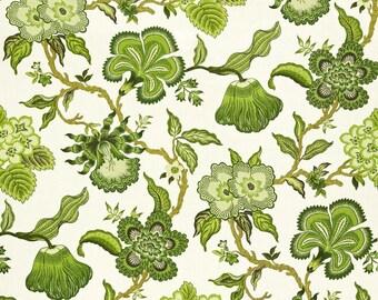 SCHUMACHER EXOTIC JACOBEAN Tree Of Life Linen Fabric 10 Yards Green Fern Multi