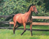 Horse Painting Personalized Custom Portrait Fine Art Photo to Painting