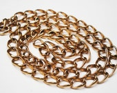 Crown Trifari gold chain necklace 36 inches