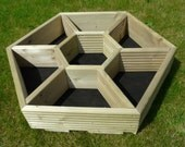 Hexagonal hand made garden and patio planters. Ideal for your herbs & border plants