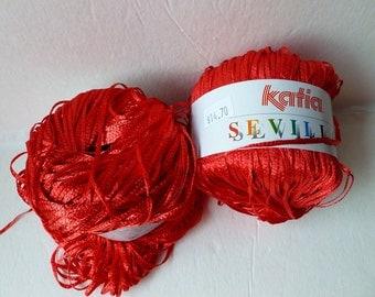 Yarn Sale  Crimson 4  Sevilla by Katia