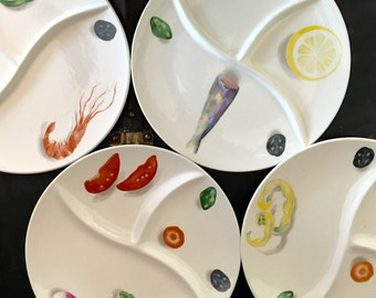 Vintage Divided French Plates
