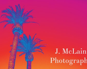 "Photography print - ""Vegas Palm Trees - Infrared"""