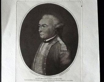 Captain William Baillie 1786 Print. Colonel William Kellett