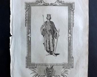 Russell 1779 Antique Portrait Print. John