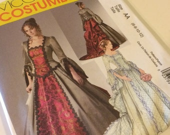 NEW McCall's Renaissance Queen Dress Costume