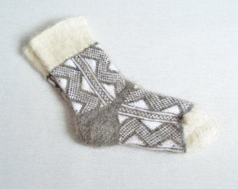 Mens Goat Fluff Wool Socks Thermal Dress Hiking Camp NEW