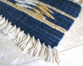 Oodi Weavers table mat - hand woven table mat - Africa weaving - wool table mat - Botswana weaving - small woven table mat - rustic decor -