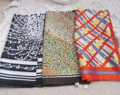 Lot of 3 Assorted Color Ladies Fashion Scarves