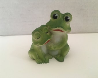 Choice of One Frog Owl Raccoon Turtle Farm Animal Figurine Craft Project Supply Dollhouse Shadowbox DIY Miniature Supply