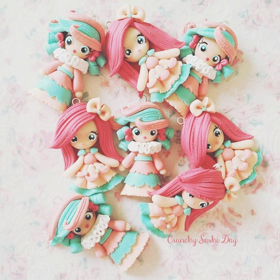 1 Cotton Candy Collection Necklace, Sweet Lolita, Polymer Clay Pendant, Necklace, Cosplay, polymer clay, clay pendant, Kawaii, Chibi, doll