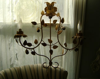 vintage gold wall sconce