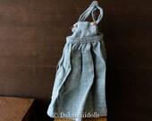 Blythe Doll Outfit /  1/6 doll size /  salopette skirt/quartz green