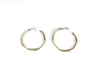 Childhood-Modeling bronze earrings