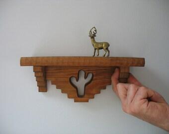 Vintage Wood Shelf Cactus Southwest - Mini Wood Shelf