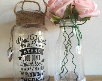 Good friends are like stars tea light