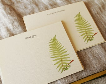 Fern Note Cards with Envelopes | Personalized Notecards | Botanical Gifts