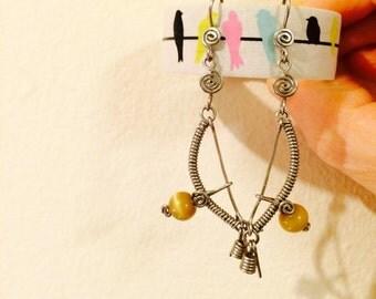 Mini Berimbau Earrings / Pair