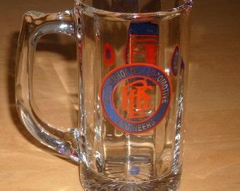 Free shipping! Brotherhood of Locomotive Engineers glass mug