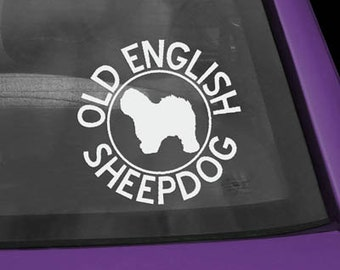 Old English Sheepdog Circle Decal