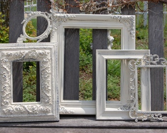 Rustic PICTURE FRAME /  Shabby Chic / Wall Decor / Farmhouse Wedding Cottage Frames