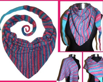 SCARF *SprinG*  knitted neckerchief, colorful shawl