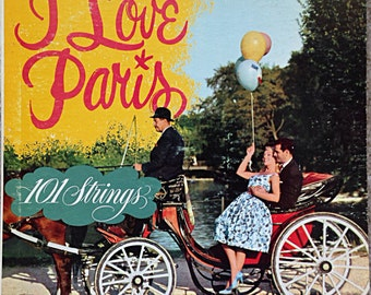I Love Paris Vintage Vinyl Record 1950s