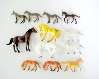 Horse Figures, Plastic Horse Figures, Childrens Horse Toys, Vintage Horse Figures, Vintage Plastic Horses, Mid Century Horse, Plastic Horses