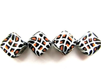 10 Acrylic Square Beads 10 mm Beads Animal Print Jewelry making Suppies