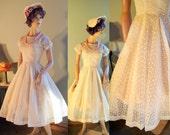Beautiful vintage 50s cupcake princess dress party prom wedding