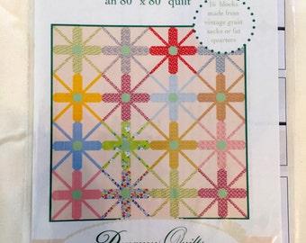 VINTAGE SPRINKLES quilt pattern 80 x 80, Dreamy Quilts pattern 002, fat quarter or flour sack friendly