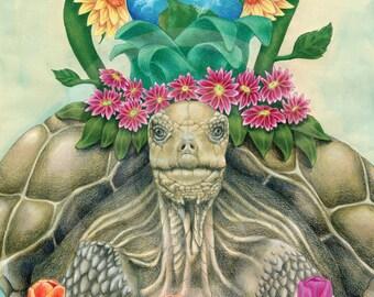 Earth Day Drawing Fine Art Print