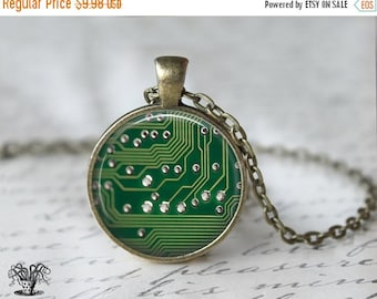 Circuit Board Necklace - Geek Necklace - Computer Necklace L94
