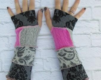 Wrist Warmers - Fingerless Gloves - Hippie Gloves - Fingerless Mitts - Warm Gloves - Teen Girls Clothing - Gypsy Clothing - Christmas Gift