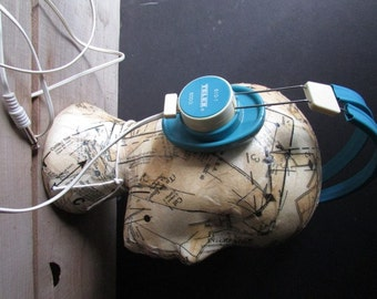 Blue Telex Vintage Headset 610-1 Earphones Vintage Library A/V