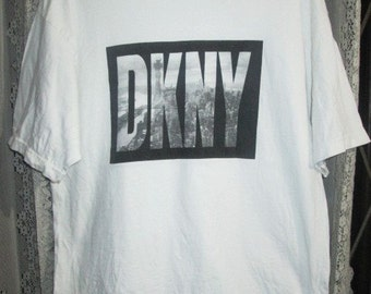 Authentic Vintage DKNY JEANS Donna Karan New York T-Shirt Made In Usa