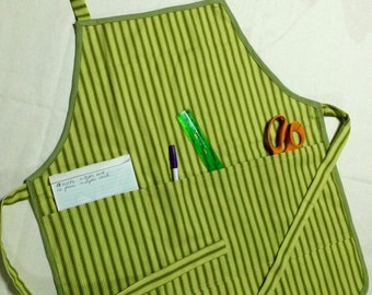 Four Pocket Apron: Green