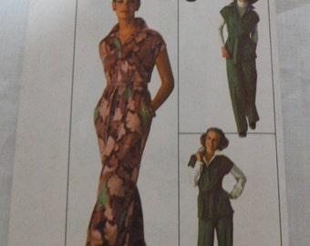 7746 Simplicity Size 14 Pattern Misses Jiffy Dress or Top & Pants Vintage 1976 Uncut