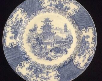 Allerton Blue and White Transferware Plate