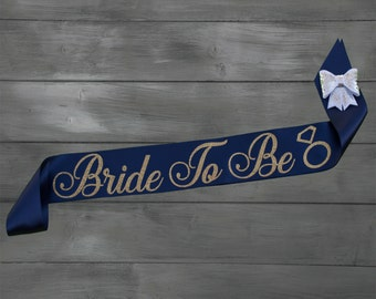 Bride To Be Sash – Bachelorette Sash – Custom Bridal Sash - Bridal Sash - Satin Bride Sash