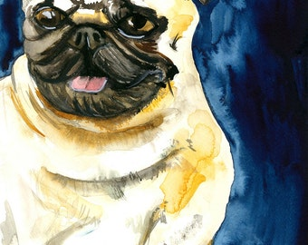 Watercolor Custom Pet Portrait Large - 11x15inches - Dog, Cat, Puppy, Kitty, Bunny, Guinea Pig, Rat, Piglet, and more!