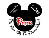 Custom Personalized 1st Trip Mickey Iron on Transfer Decal(iron on transfer, not digital download) disney iron on