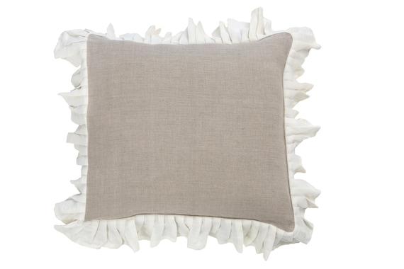 Ruffle Decorative Pillow Covers : Ruffle cushion ruffled cover decorative pillow ruffle