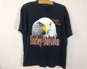 90s harley davidson eagle shirt size S/M